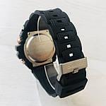 Мужские спортивные наручные часы Casio G-Shock (реплика) черный ремешок золотой циферблат, фото 7