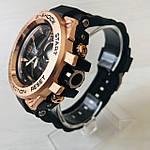 Мужские спортивные наручные часы Casio G-Shock (реплика) черный ремешок золотой циферблат, фото 4