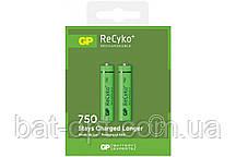 Аккумулятор бытовой GP Recyko R3 AAA 750mAh Nі-MH 1,2V, минипальчиковый