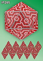 Набір алмазної живопису IP205 Новорічна куля Мозаїка червона