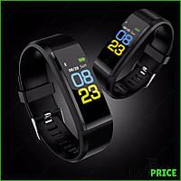 Часы фитнес браслет с измерением пульса и давления Smart Band B05 Черный