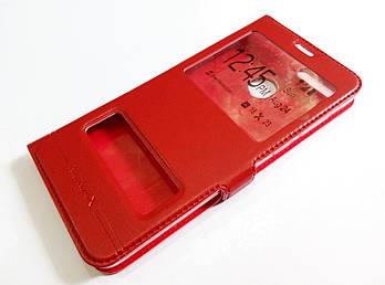 Чехол книжка с окошками momax для Huawei Honor 7X красный