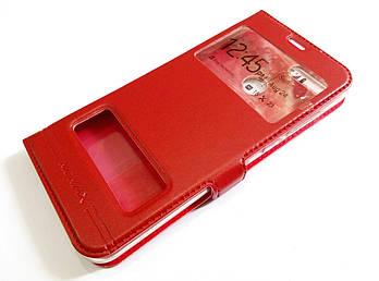 Чехол книжка с окошками momax для Huawei Honor 9 Lite красный