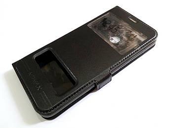Чехол книжка с окошками momax для Huawei Honor 9 Lite черный
