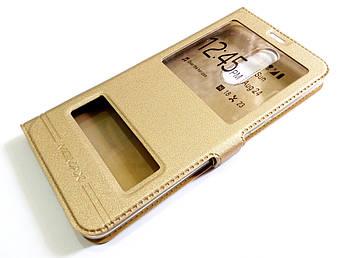 Чехол книжка с окошками momax для Huawei Mate 10 Lite / Nova 2i золотой