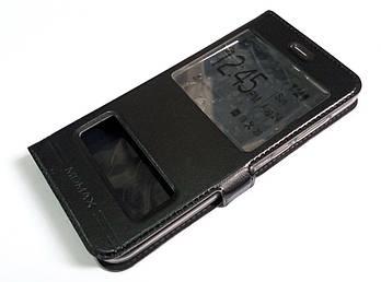 Чехол книжка с окошками momax для Huawei Honor 9 черный