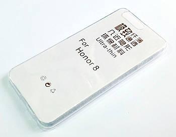 Чехол для Huawei Honor 8 силиконовый ультратонкий прозрачный