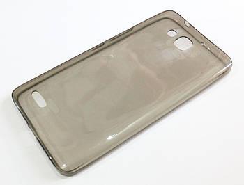 Чехол для Huawei Honor 3X G750 / 3X Pro / Ascend G750 силиконовый ультратонкий прозрачный серый