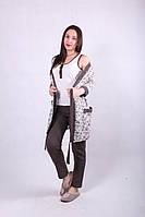 Комплект пижама и халат утепленный подходит для кормления грудью хлопок размер м/л