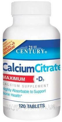 21st CenturyКальций цитратCalcium Citrate maximum + D3120 tabs