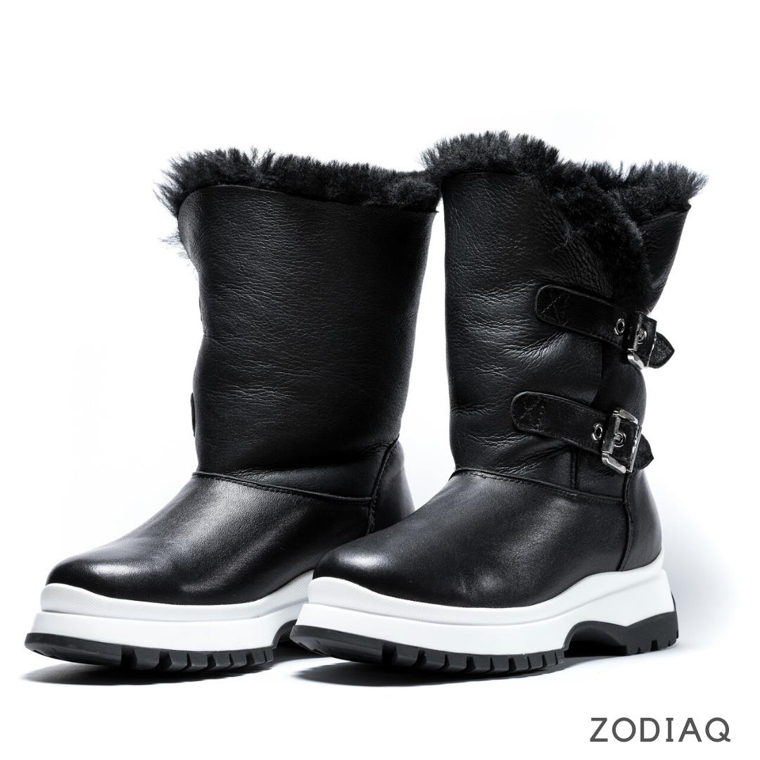 Ботинки женские зимние кожаные натуральный мех b8978-2s