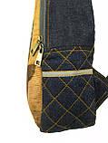 Джинсовий рюкзак Бегемотик, фото 2