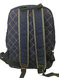 Джинсовий рюкзак Бегемотик, фото 3