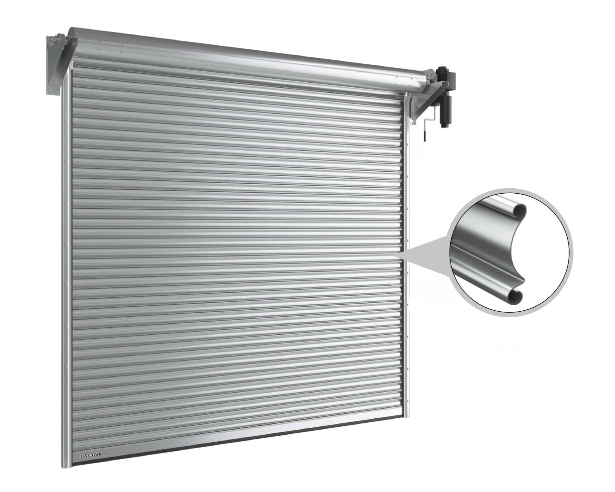 Рулонные ворота DoorHan с вальным приводом из сплошного стального профиля RHS117