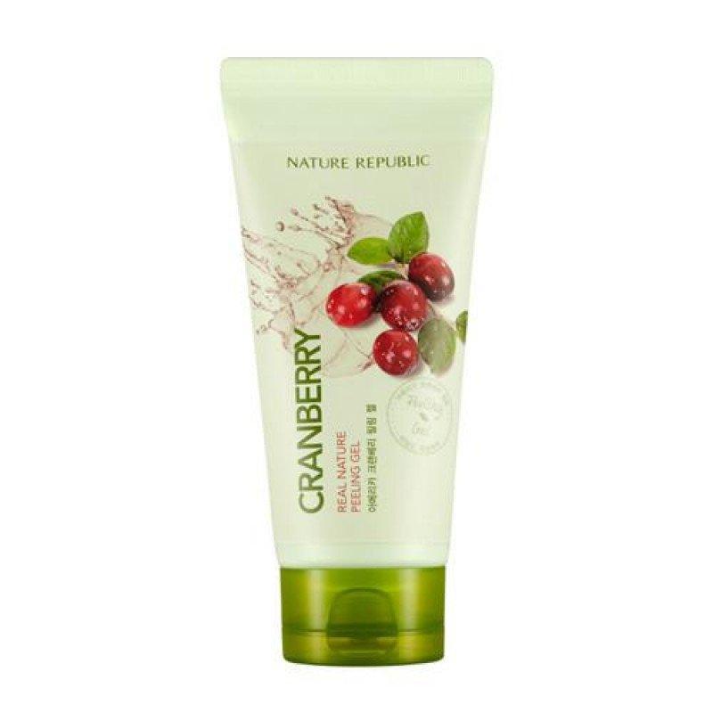 Клюквенный пилинг-гель для лица Nature Republic Real Nature Cranberry Peeling Gel, 120 ml