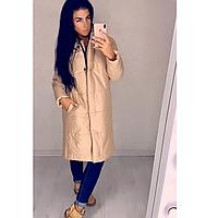 Куртка стильная  женская зимняя удлиненная