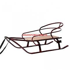 Детские санки Спринтер со спинкой