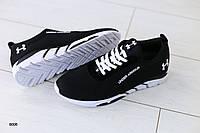 Мужские кроссовки в сеточку, черные, фото 1