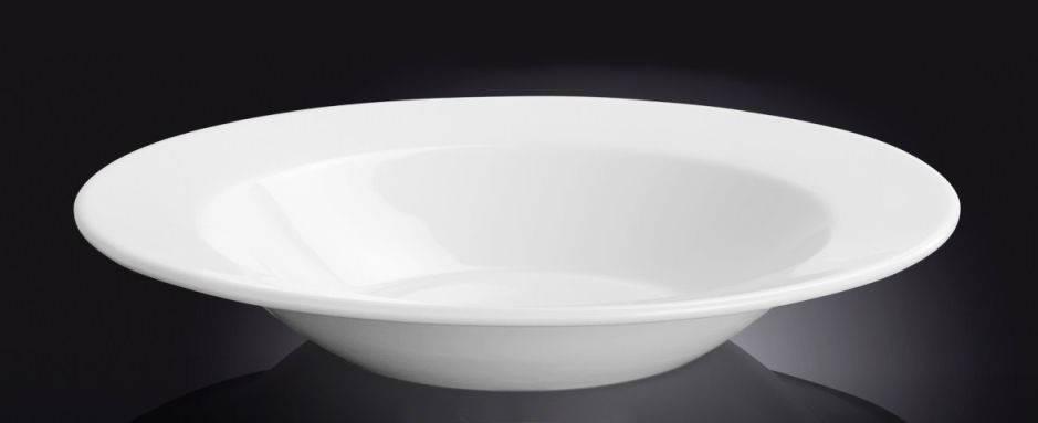 Тарелка фарфоровая глубокая Wilmax круглая белая (24 см), фото 2