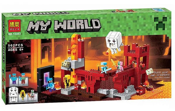"""Конструктор Minecraft Bela 10393 """"Подземная крепость"""" (аналог Lego 21122 Майнкрафт), 562 детали"""