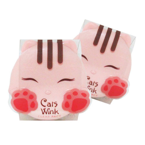 Tony Moly Cats Wink Clear Pact Матирующая пудра