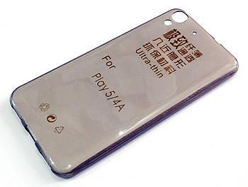 Чехол для Huawei Y6 силиконовый ультратонкий прозрачный серый