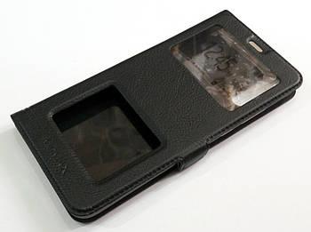 Чехол книжка с окошками momax для Huawei P20 черный