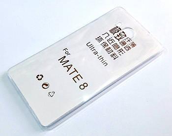 Чехол для Huawei Mate 8 силиконовый ультратонкий прозрачный