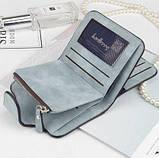 Женский кошелек, клатч Baellerry Forever Mini, балери. Голубой. Замша PU, фото 4