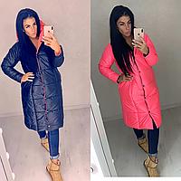 Куртка стильная двусторонняя женская зимняя