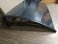 Козырек из сотового поликарбоната 1,5х1м