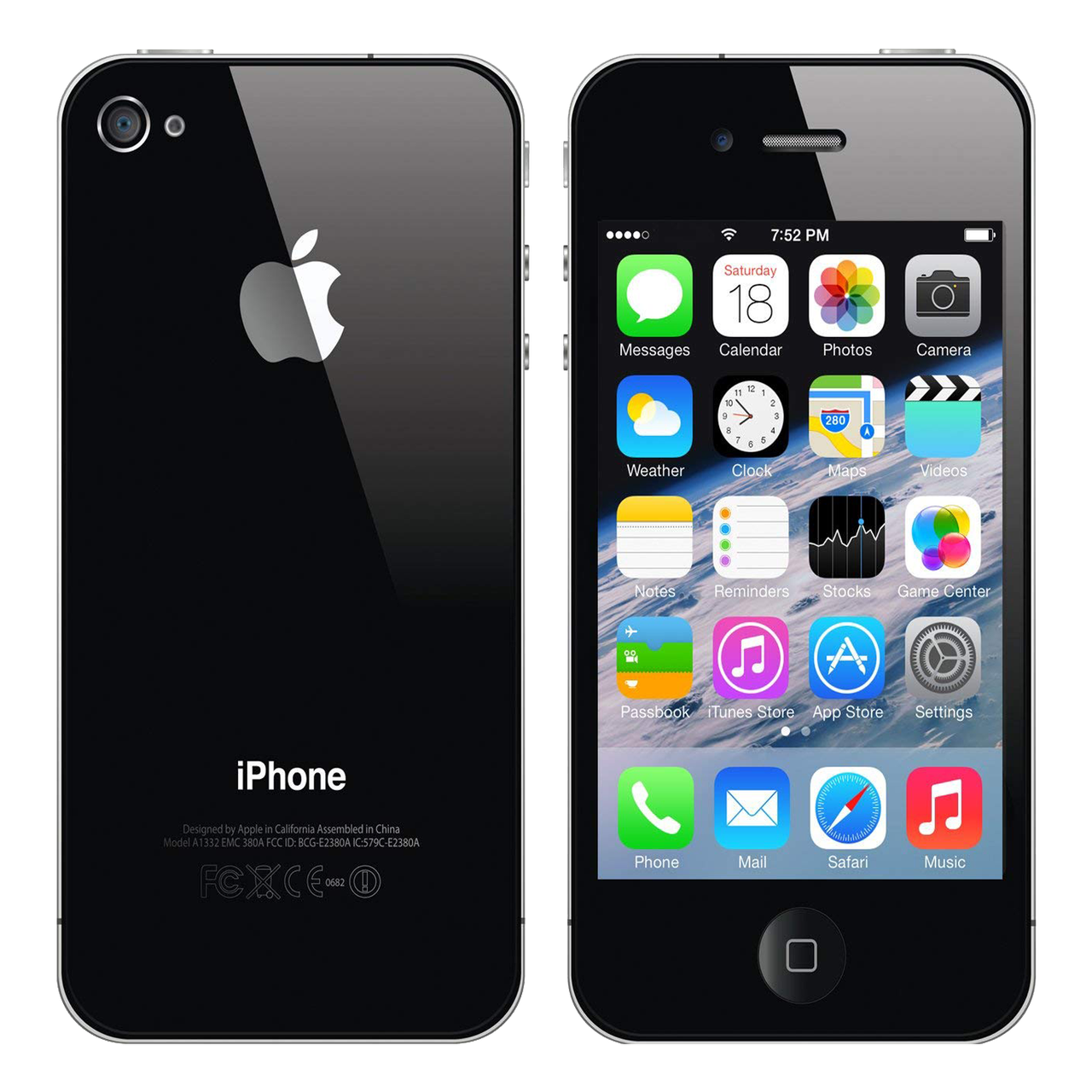 Refurbished iPhone 4s Black 16 Gb Полный комплект