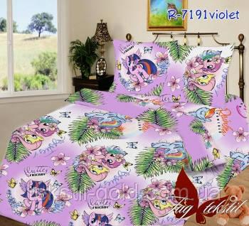 Детский комплект постельного белья 7191 violet ТМ TAG ранфорс хлопок 160х220