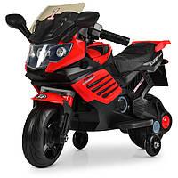 Детский двухколесный мотоцикл на аккумуляторе Bambi M 3582EL-3 красный