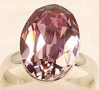 """Кольцо ХР Родий с кристаллами Swarovski """"Граненный кристалл Burgundy"""" р.17-17.5 свободный размер, фото 1"""