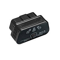 Диагностический автомобильный OBDII сканер KONNWEI KW903 ELM327 Bluetooth 3.0 WI-FI для Windows Android IOS Черный (3650-10568)