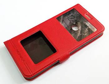 Чехол книжка с окошками momax для Huawei Y6 Prime 2018 / Honor 7A красный