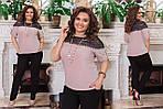 """Жіноча блузка """"Люрекс з гіпюром"""" від Стильномодно, фото 4"""