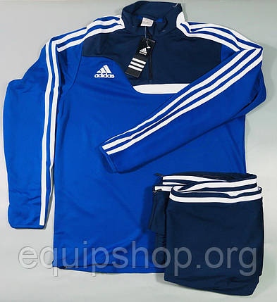 Костюм тренировочный Adidas Tiro 13 сине-темно/синий, фото 2