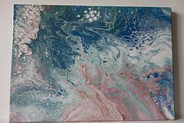 """Fluid Art абстрактная живопись, картина """"гармония"""""""