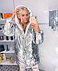 """Двухсторонняя стильная удлиненная женская курточка """"Star"""", фото 7"""