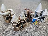 С494 Керамическая декорация для аквариума Башня двойная малая