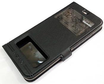 Чехол книжка с окошками momax для Huawei Honor 10 черный