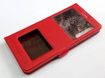 Чехол книжка с окошками momax для Huawei P20 Pro красный