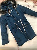 Куртка для девочек с капюшоном (0412/29)