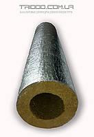 Скорлупа базальтовая Ø 110/40 для изоляции труб кашированная фольгой