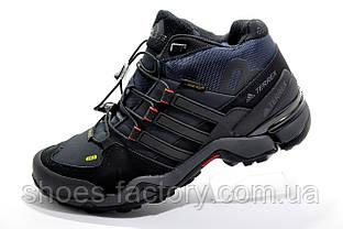 Зимние кроссовки в стиле Adidas Terrex Gore-Tex, Dark Blue\Black