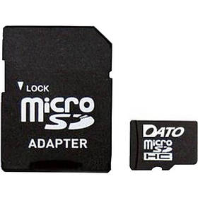 Карта памяти MicroSD DATO 4Gb 4 Class Original + адаптер SD
