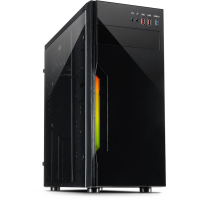 "Корпус Inter-tech (B-42 RGB), ATX Midi Tower, Black, Max CPU Cooler Height Up to 150mm,  ATX, Full ATX, 1x5.25"", 3x3.5"" 2x2.5"", 2xUSB 2.0,HD Audio"