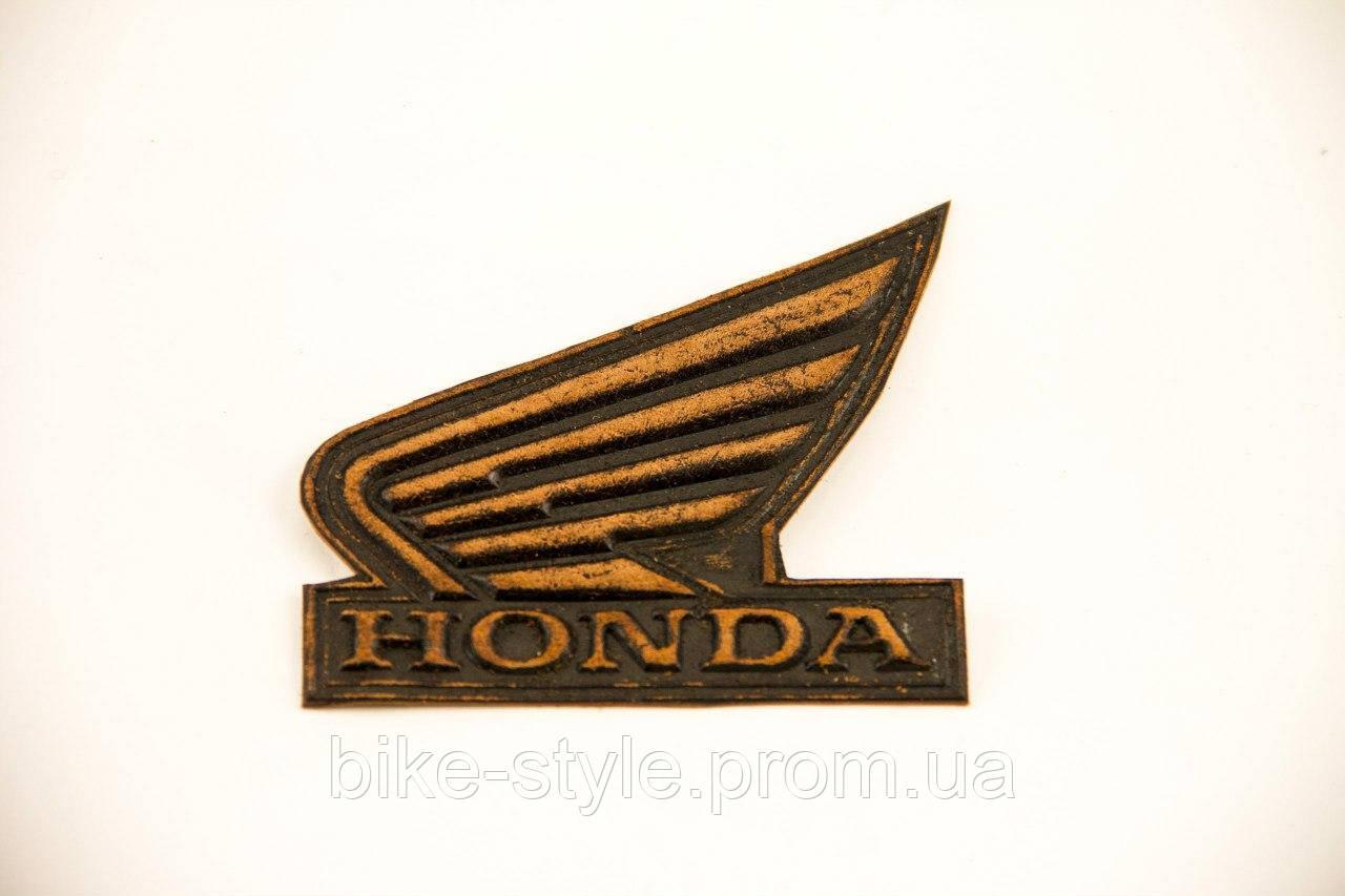 Кожаная нашивка Honda